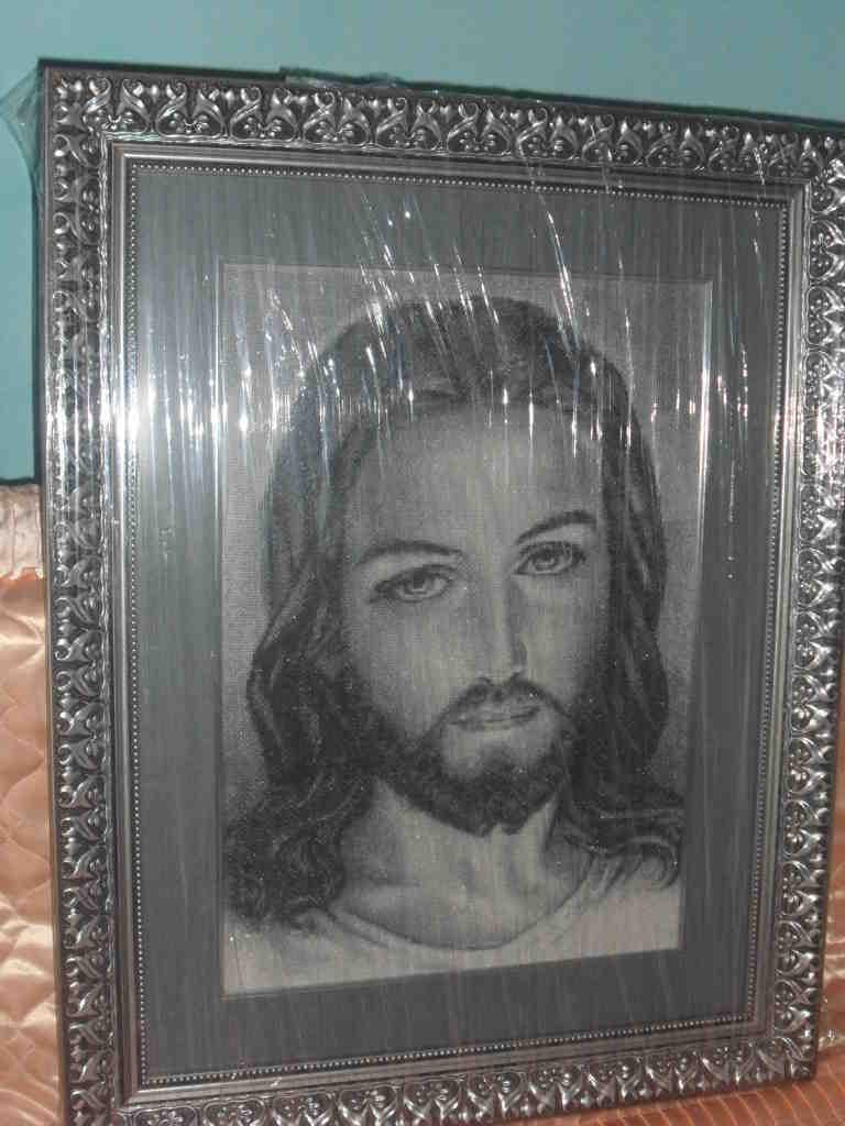 продам вишитий образ Ісуса Христа, зображення 1