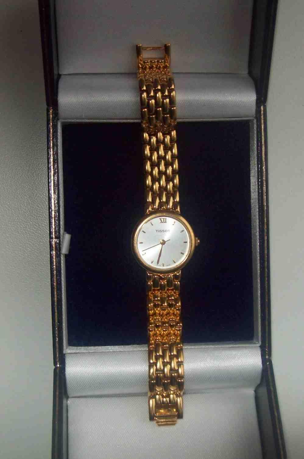 Швейцарський позолочений годинник Tissot Seastar Elegance, зображення 1