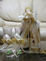 Красивые свадебные бутылки и бокалы под заказ!, фото 1
