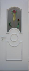 Міжкімнатні двері з вітражами, зображення 1
