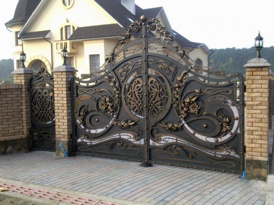 ковка, художня ковка, ковані ворота VIP, фото 1