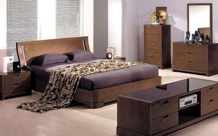 Спальний гарнітур Токіо (колір: темний дуб венге), зображення 1