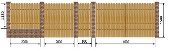 ковано дерев*яні огорожі, зображення 1