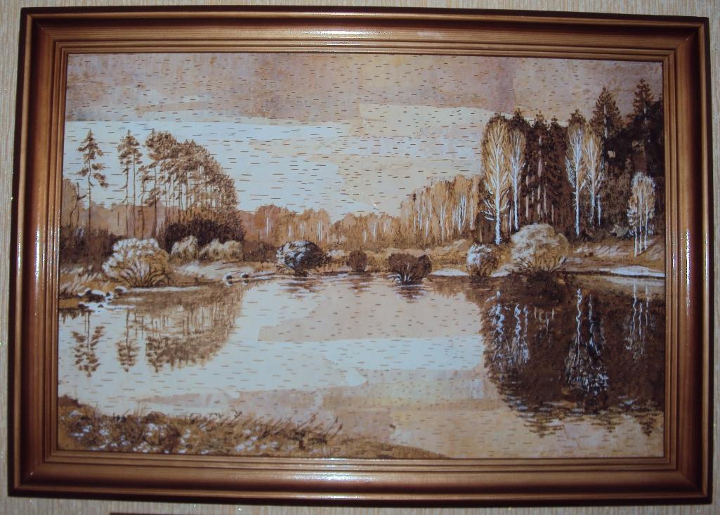 оригінальні картини з березової кори, зображення 1