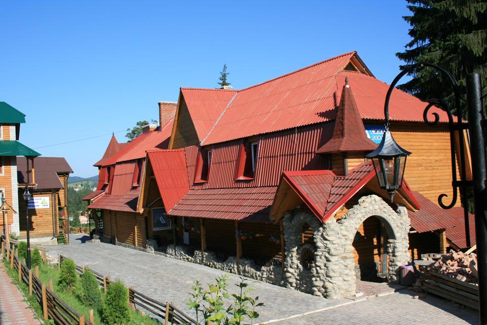 Паляница Дом – гостиница, номера с удобствами на территории ТК Буковель, зображення 1