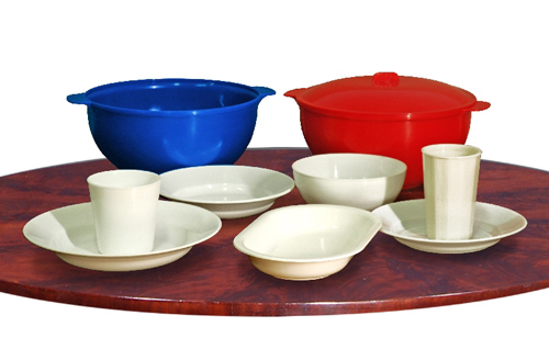 Пластмасовий багаторазовий, термостійкий, удароміцний посуд., фото 1