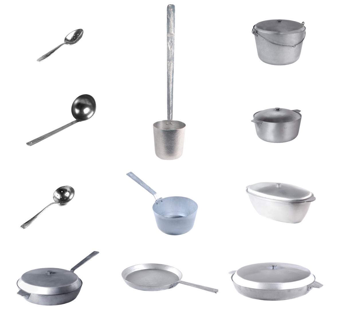 Алюмінієвий литий посуд., зображення 1