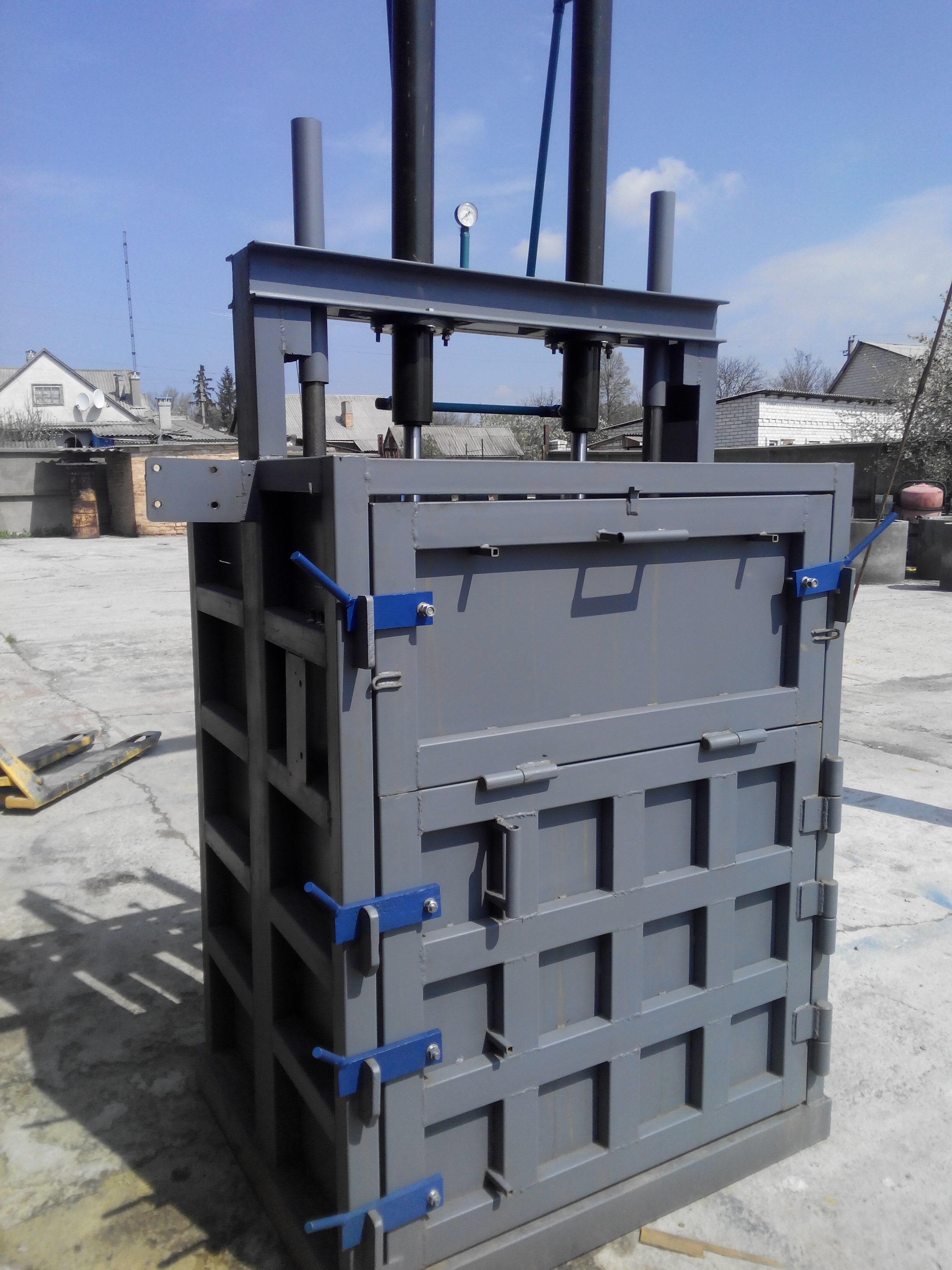 Пресс для промышленных отходов ПДО-2Ц (2 цилиндра), зображення 1