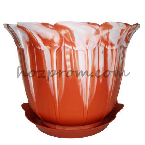 Горшки для цветов пластиковые по низким ценам, зображення 1