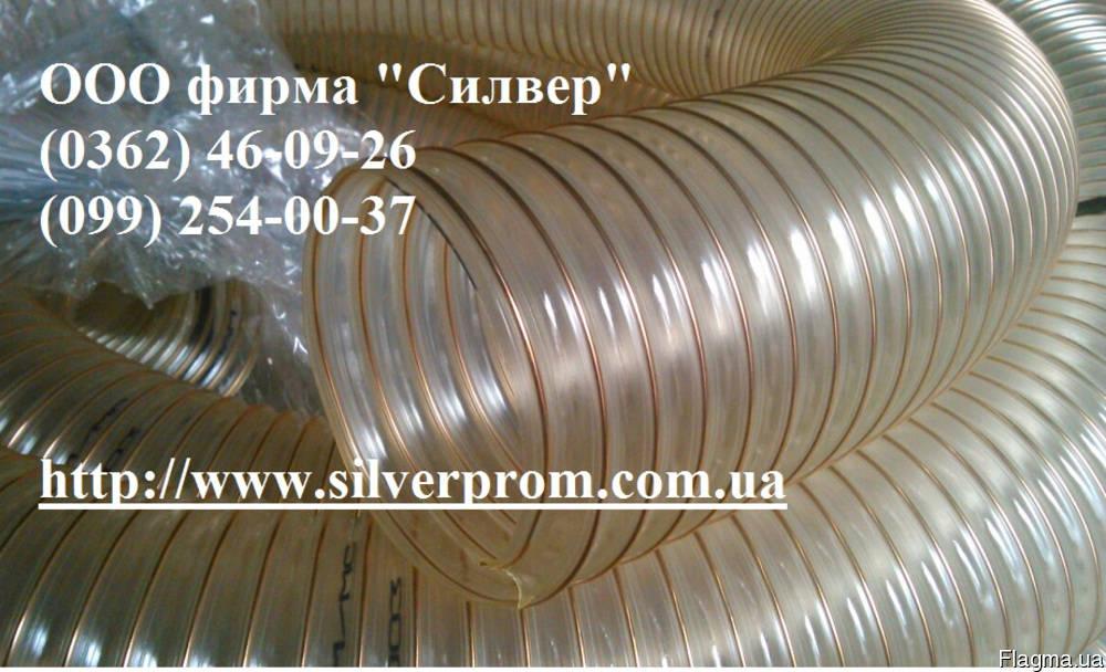 Аспирационный трубопровод гофрированный ПУР 400*1,4мм, зображення 1
