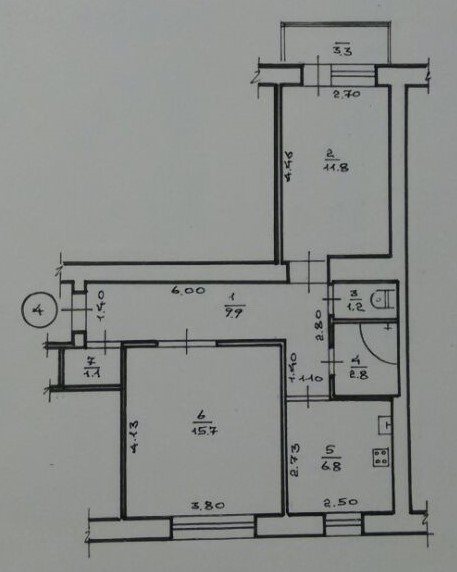 2-ох кімнатна квартира м.Калуш, зображення 1