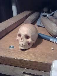 череп дерев'яний, зображення 1