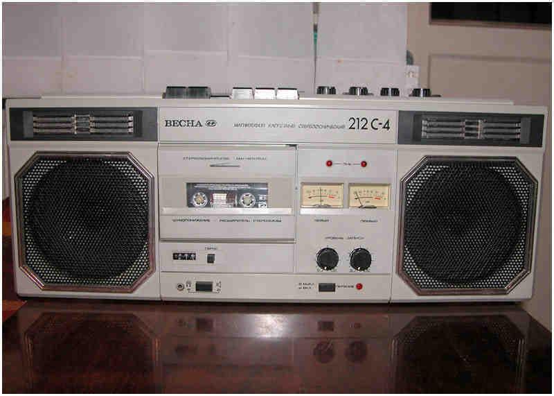 Раритетний магнітофон ВЕСНА М 212С-4 кассетний, зображення 1