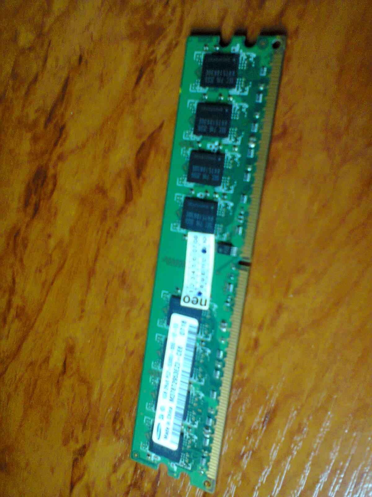 планка DDR2 1Gb Samsung PC2-5300U, зображення 1