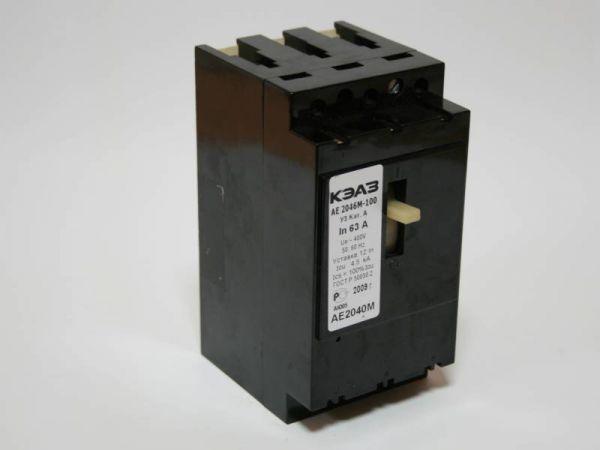 Автоматический выключатель АЕ2046М-10Р-00У3-Б 20А, 380В, зображення 1