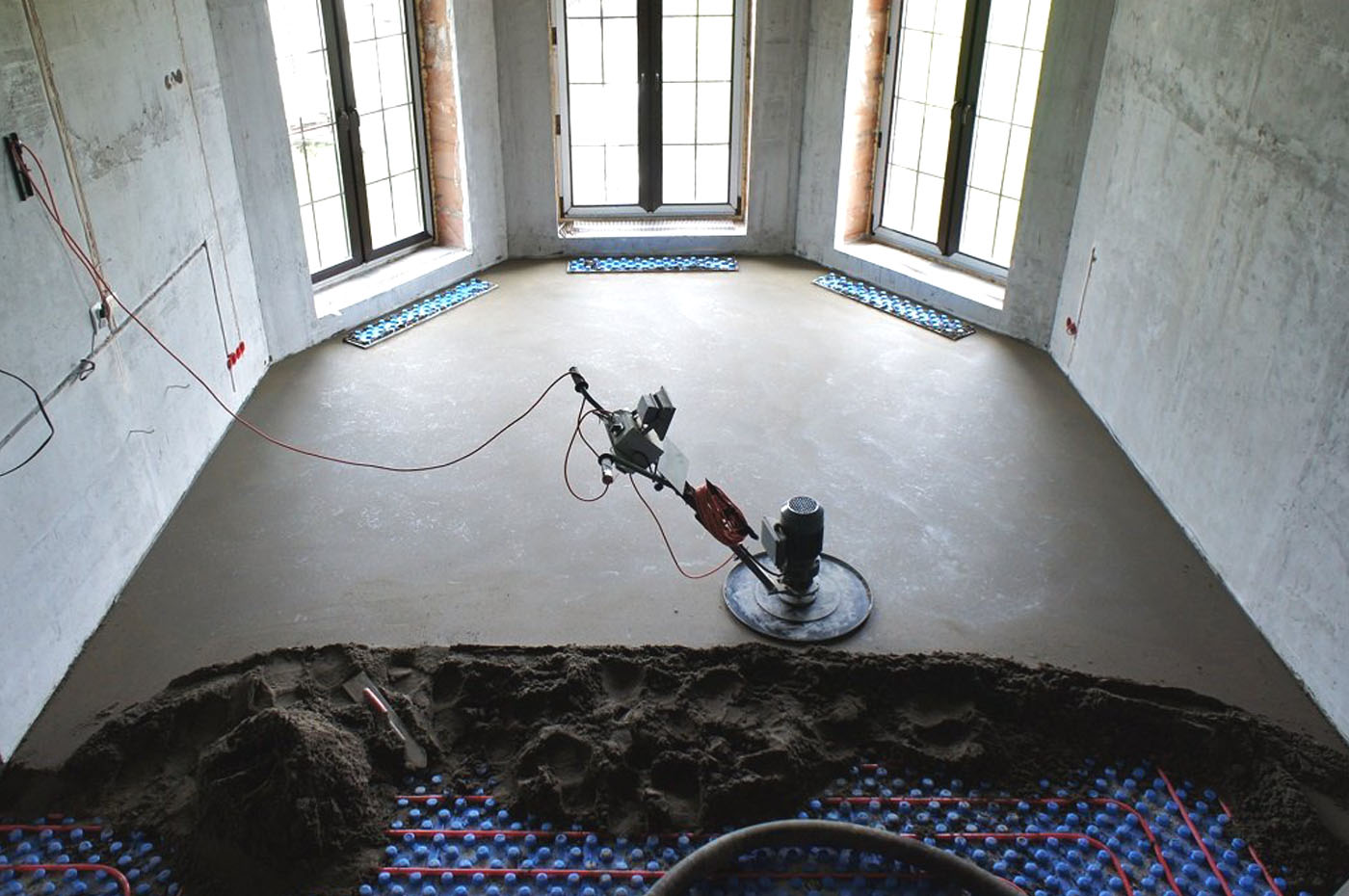 Напівсуха стяжка підлоги, бетон, стяжка, зображення 1