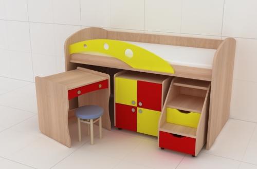 дитяче-ліжко трансформер Капітошка, зображення 1